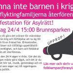 Manifestation för asylrätt i Göteborg.