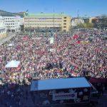 Vänsterpartiets tåg störst i Göteborg på 1:a maj.