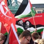 Kraftfull manifestation mot Israels attack.
