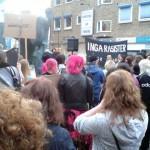 Manifestation mot rasism i Jönköping.