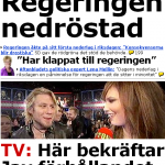 Regeringen och idolfinalisterna förstasidesstoff.