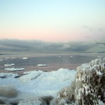 Vinterns första Vätterrök.