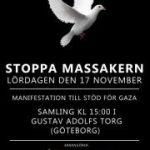Manifestation till stöd för Gaza.