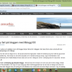 En eftersläntare i #blogg100.