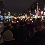 Fackeltåg mot rasism i Göteborg, bilder.