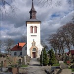 Påskpynt vid Solberga kyrka, dagens foto.