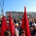 Rekordmånga bakom röda fanor i Göteborg.