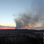 Värden för miljoner förstörda och brandrök över Hisingen