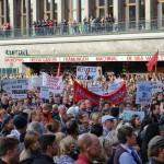 Manifestation till stöd för flyktingar i Göteborg.
