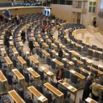 Stiltje  och usel debatt i riksdagen.
