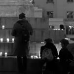 Ljusmanifestation i Göteborg.