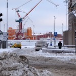 Snön lamslog Göteborg, bilder.