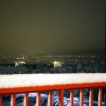 Göteborg fast i snön.