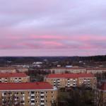 Solen på väg ner på Hisingen, Bild.