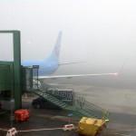 Dimma och flygplan, dagens bild.