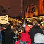 Manifestation 8 mars på Götaplatsen, bild.